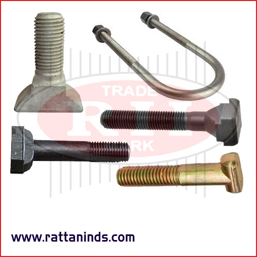 tbolts slotted bolts ubolts forged t bolts manufacturers exporters in India Punjab Ludhiana